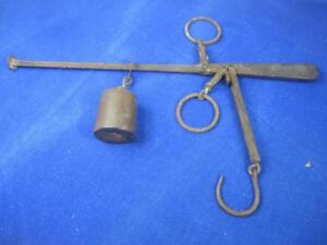 Antique General Store Chicken Or Fowl Hanging Balance Scale A16