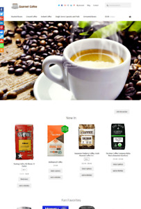 Coffee Ecommerce Website Business For Sale Unlimited Stock Shopping Cart