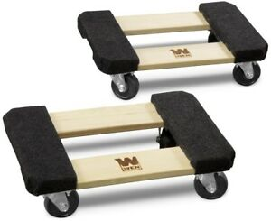 Wen Furniture Dolly Mover Mobility 1000 Lbs Capacity 12 X 18 In Hardwood 2 Pack