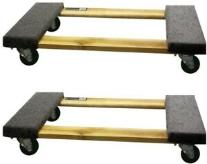 Buffalo Tools Furniture Dolly Mover Rolling 30 X 18 3 1000 Lb Capacity 2 Pack