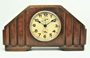 Mantel Clock Antique With Alarm Very Good Working Order