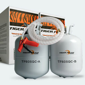 Tiger Foam 600bd ft Quick Cure Spray Foam Insulation Kit Free Shipping