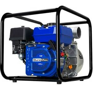 Duromax Xp650wp 3 Portable 7 Hp Gas Power Water Trash Pump Npt Threaded