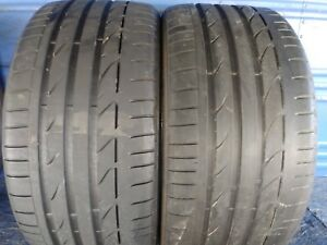 2 Bridgestone Potenza S001 Rft 255 35 19 Bmw With 6 75 7 5 32nd Tread Left 92y