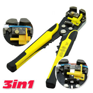 Automatic 4 To 22 Awg Wire Cutter Stripper Pliers Electrical Cable Crimper