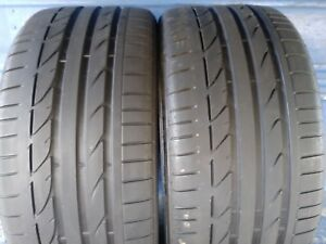 2 Bridgestone Potenza S001 Rft 255 35 19 Bmw With 7 75 32nd Tread Left 92 Y