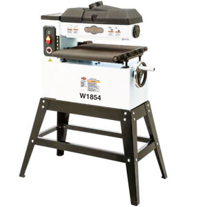 Shop Fox W1854 120 volt 18 inch 1 5 Hp Variable Speed Feed Open end Drum Sander