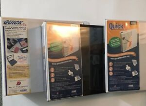 Lot Of 3 Quick Fit D ring View Binder 2 5 Capacity White Blk