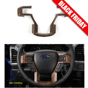 Wood Grain Car Steering Wheel Cover For 2015 2020 Ford F150 F250 F350 Super Duty
