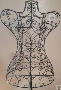 Two Vintage Metal Mannequin Wire Frame Dress Form Display Stands New