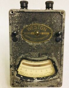 Vintage Weston Model 440 Galvanometer Electrical Instrument Tool Amps Ohms Test
