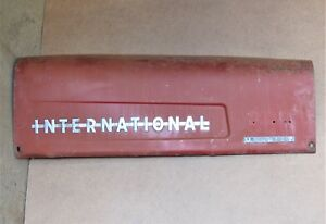 International 300 Utility Tractor Right Hood With 2 Chrome Emblems All Original