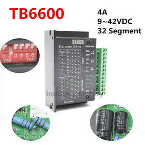 Cnc Driver Controller Tb6600 Single Axis 4a Stepper Motor 9 42vdc Drive Module