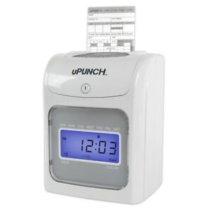 Upunch Electronic Calculating Auto align Punch Card Time Clock System New