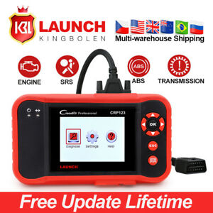 Lifetime Updates Launch Creader Crp123 Obd2 Diagnostic Tool Abs Srs Airbag