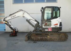 2011 Bobcat E80 Hydraulic Excavator Full Cab Air Heat Blade