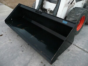 Bobcat Skid Steer Attachment 84 Hd Low Profile Smooth Bucket Ship 199