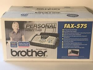 Brother Fax 575 Personal Plain Paper Fax Phone Copier New In Box