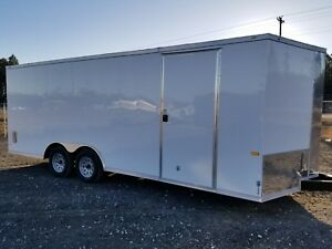 Enclosed Cargo Trailer 8 5x20 8 5 X 20 Ta In Stock Ramp V nose Car Hauler 18 24