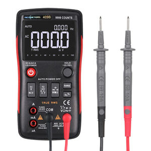 Rm409b True rms Digital Multimeter 9999 Counts With Analog Bar Graph Ncv Ac dc