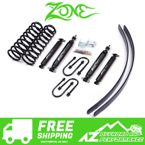 Zone Offroad 3 Lift Kit With Leafs Fits 84 01 Jeep Cherokee Xj With Chrysler 825