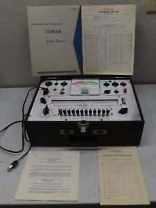 Vintage Conar Model 221 Tube Tester With Manuals Very Good Condition