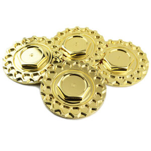 4 Pcs 168mm Golden Wheel Center Caps For Bbs Rs Avid 1 Av05 Str Racing Str 606