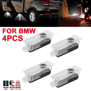 4x Bmw Car Logo Led Step Door Courtesy Welcome Light Ghost Shadow Laser Project