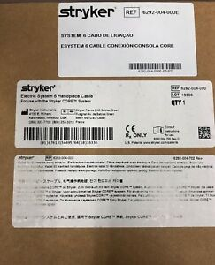 Stryker System Esystem 6 Electric Handpiece Cable New In Box 6292
