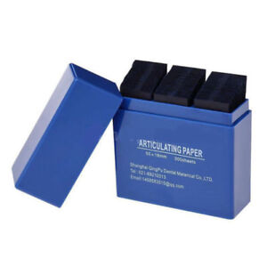Dental Lab Products Articulating Paper Double Sided Teeth Care Blue 300 Strips