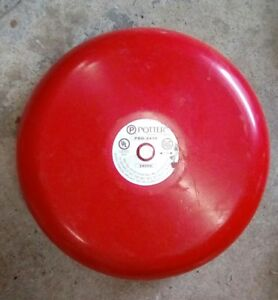 Potter Electric Signal Pbd 2410 10 Red Bell Fire Alarm 24v