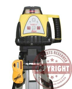 Leica Rugby 100 Self Leveling Rotary Laser Level Trimble Spectra Topcon