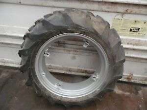 Farmall Super A Farm Tractor Rear Tire Rim 9 5 X 24 no Fluid In It nice