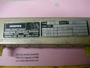 Hughes Aircraft Co Edd Type 543h Traveling Wave Tube
