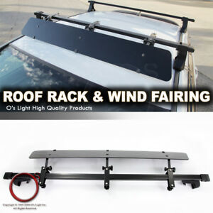 Rail Tower Roof Top Adjustable Mount 48 Crossbar Rack wind Fairing For Cayenne