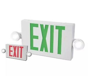 All pro Exit Emergency Light Hardwired Exit Sign Led Light 2 Color Red green