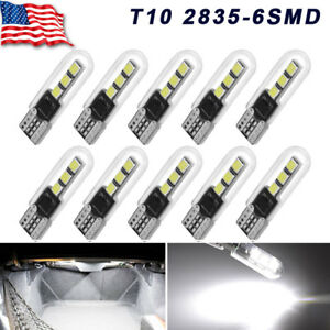 Yitamotor 10x White Led T10 194 168 W5w Map Dome Trunk License Plate Light Bulb