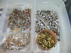 Lot Of Rivets Brass Copper Aluminum Steel Solid Hollow Lx Brake Lining Clutch Us