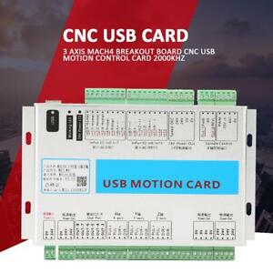 Mach4 Cnc Usb 3 Axis Motion Control Card 2000khz Breakout Board For Windows
