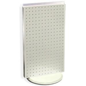 New White Counter Top Pegboard Display On Revolving Base 13 5 W X 22 High