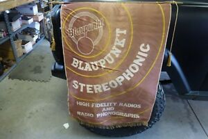 Vintage Late 1950s Blaupunkt Cloth Stereophonic Advertising Banner Sign