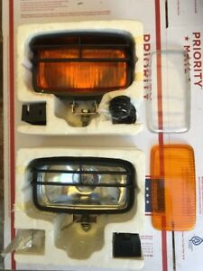 Vintage Rectangular Fog Light Kit With Clear Amber Free Shipping Usa