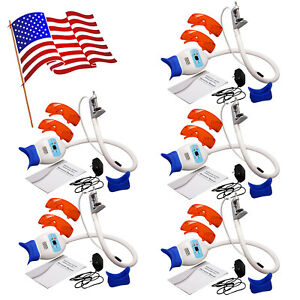 5x Dental Teeth Whitening Led Light Bleaching Lamp Accelerator Goggles 10 Usa