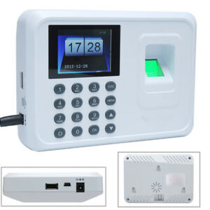 Employee Fingerprint Recorder Attendance Clock Time Card Machine 2 4 Tft I1x3