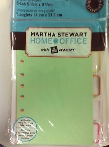 27 Count Of Newmartha Stewart Avery 5 5 x 8 5 5 tab Dividers Paper Multi Color