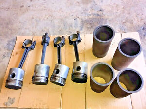 Case Dc Tractor Engine Pistons Sleeves Rods Parts 4 Bore D D Di Do