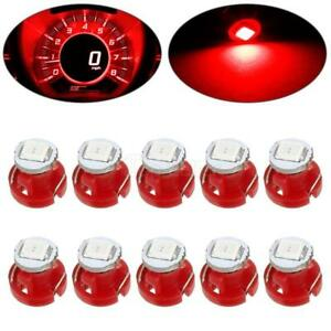 10pcs Red 2835 Smd T3 Neo Wedge 1 Led Dash Switch Panel Lights 8mm Wedge