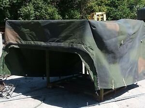 Hmmwv M998 2 Man Fitted Cover Troop Area Woodland 12340761 need Minor Repair