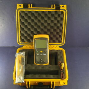 Fluke 51 Ii Thermocouple Thermometer Very Good Screen Protector Hard Case