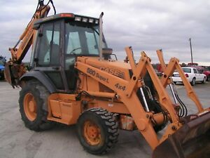 Case 580 Super L Series 2 4x4 Backhoe Tractor Loader Encloes Cab Heat
